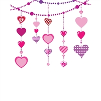 Dangling Hearts Printed Backdrop