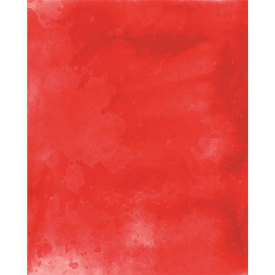 Red Watercolor Printed Backdrop