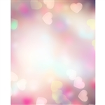 Heart Bokeh Printed Backdrop
