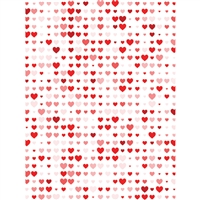 Valentine Heart Pattern Printed Backdrop