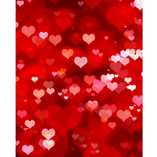 Heart Burst Printed Backdrop