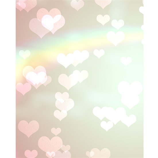 Rainbow Hearts Printed Backdrop