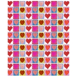 Heart Sketches Printed Backdrop