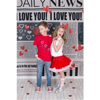 Daily News Printed Backdrop