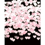 Pink Hearts Bokeh Printed Backdrop