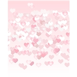 Blushing Hearts Bokeh Printed Backdrop