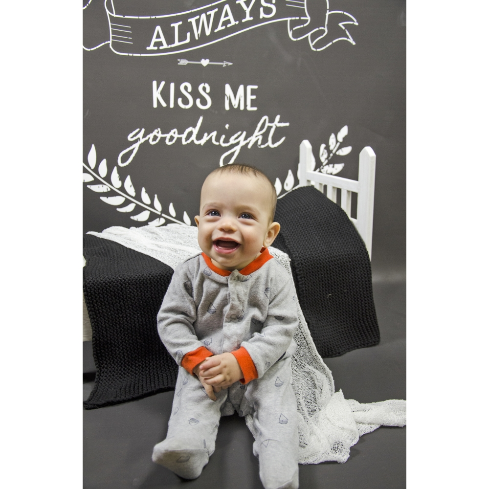 Kiss Me Goodnight Printed Backdrop Backdrop Express