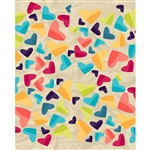 Colorful Hearts Printed Backdrop
