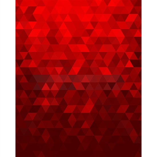 Red Geometric Pattern Printed Backdrop