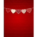 Valentine's Day Bunting Printed Backdrop