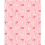 Pink Heart Strings Printed Backdrop