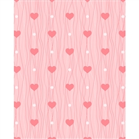 Heart Air Balloon Printed Backdrop