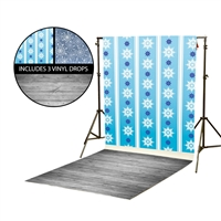 Snowflakes Vinyl Backdrop Kit