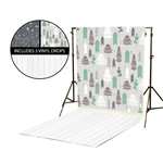 Pine Trees & Starry Night Vinyl Backdrop Kit