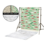Mustaches & Naughty or Nice Vinyl Backdrop Kit