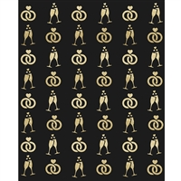 Wedding Celebration Printed Backdrop Dark
