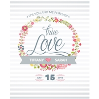 True Love Custom Wedding Backdrop