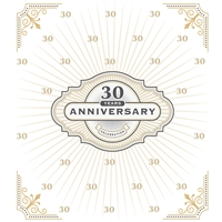 Classic Anniversary Custom Printed Backdrop