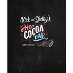 """Hot Cocoa Bar"" Custom Printed Backdrop"