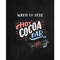 Cocoa Bar Printed Backdrop