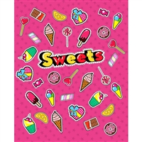 Candy & Sweets Printed Backdrop