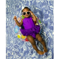 Tranquil Pool Printed Backdrop